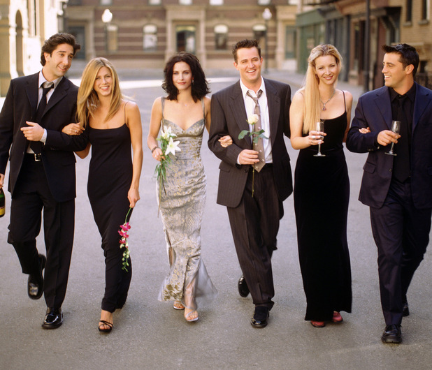 Friends cast shot