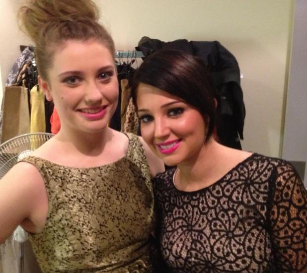 Ella Henderson and Tulisa at The X Factor