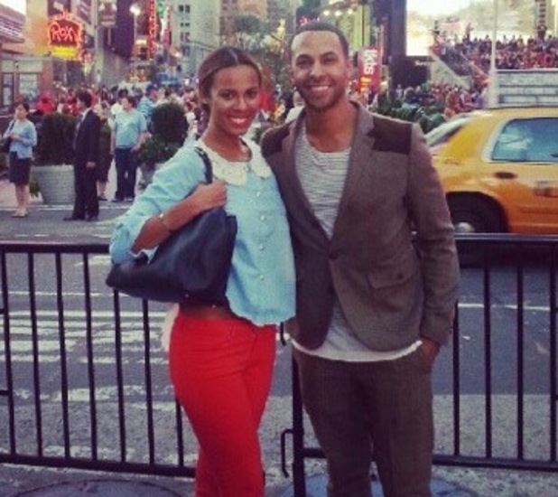 Rochelle Humes, Marvin Humes in New York