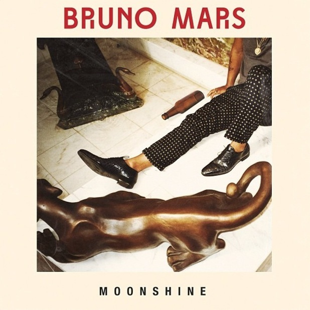 Bruno Mars 'Moonshine' single artwork.
