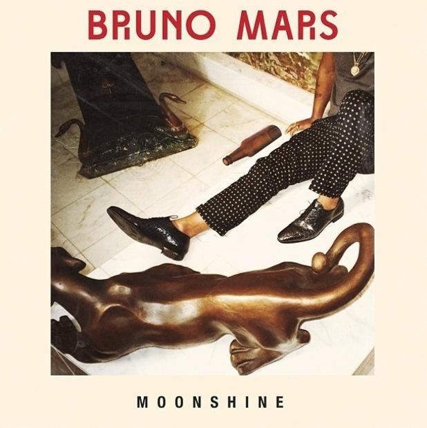 Bruno Mars 'Moonshine' single artwork.