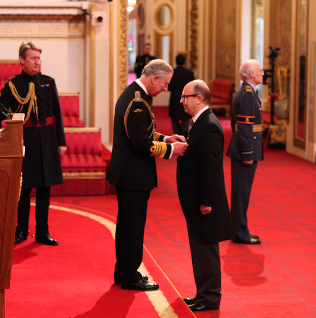 David Rodigan is granted the MBE by Prince Charles, February 2012