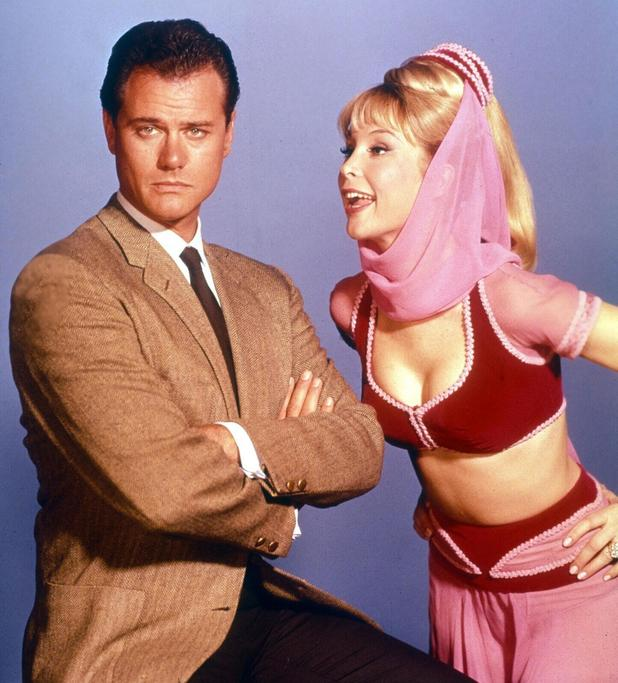 Larry Hagman and Barbara Eden in I Dream of Jeanie.