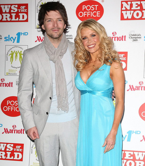Melinda Messenger and husband Wayne Roberts