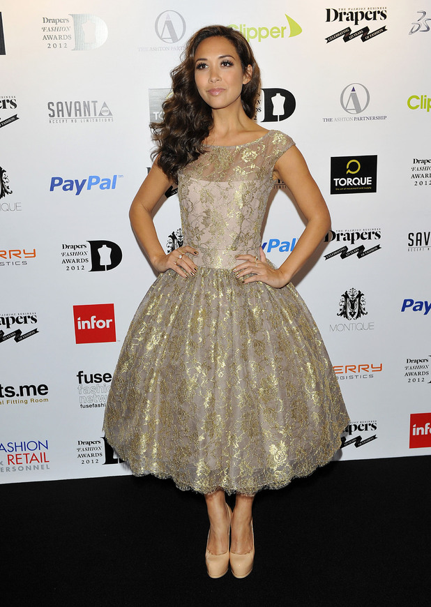 Myleene Klass, at the Drapers Fashion Awards at Grosvenor House.