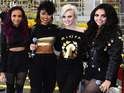 The girl group say they were blocked from meeting the star on The X Factor.