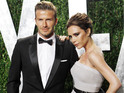 David and Victoria Beckham are seen flying from Los Angeles to London.