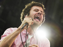 "Michael Angelakos of the band Passion Pit performs at the ""Made In America"" music festival"