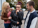 Pregnant Sinead must choose whether to keep her baby in Hollyoaks next week.