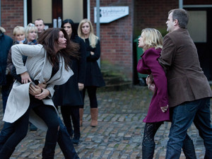Leanne and Carla fight in the street