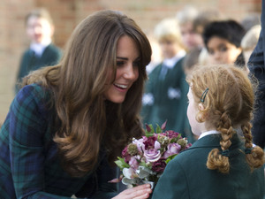 Catherine Duchess of Cambridge (Kate Middleton) visits St Andrew's School in Pangbourne, Berkshire.