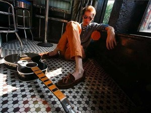 Press shot of Deerhunter and Atlas Sound&#39;s Bradford Cox, as photographed by Mick Rock for record label 4AD
