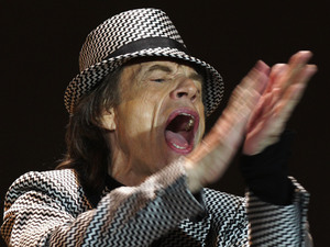 Mick Jagger of The Rolling Stones performing at the O2 Arena in London, as part of their 50th anniversary series of concerts