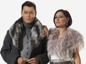 Big Brother presenters Brian Dowling and Emma Willis (photoshoot for 2013 season)