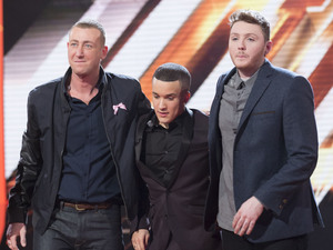 The X Factor: The finalists Christoper, Jahmene and James.