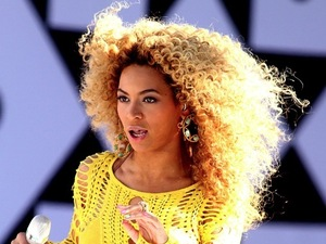 Beyonce performing on GMA