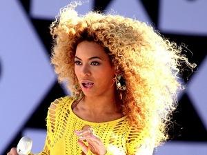 Beyonce performing on GMA