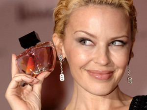 Kylie Minogue launches her fragrance, Darling, at Harrods in central London.