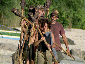 """Hell Hath Frozen Over"" - The remaining survivors make the journey to Tribal Council during the eleventh episode of Survivor: Philippines"