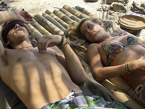 """Hell Hath Frozen Over"" - Malcolm Freberg and Abi-Maria Gomes during the eleventh episode of Survivor: Philippines"