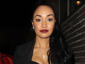Leigh-Anne Pinnock of girl band, Little Mix leaving Whisky Mist. London, England