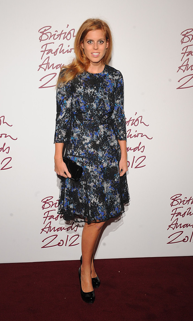 Princess Beatrice, British Fashion Awards 2012