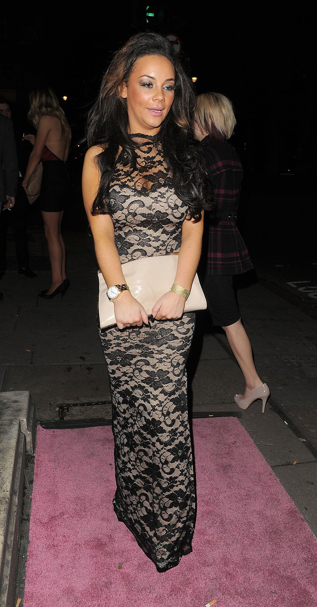 Chelsee Healey leaving Aura nightclub.