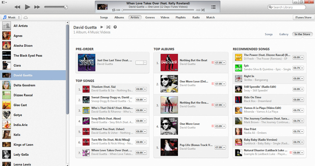 iTunes 11 - direct store from playlist