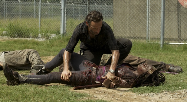 The Walking Dead - Season 3, Episode 7: Rick Grimes (Andrew Lincoln) and Michonne (Danai Gurira)
