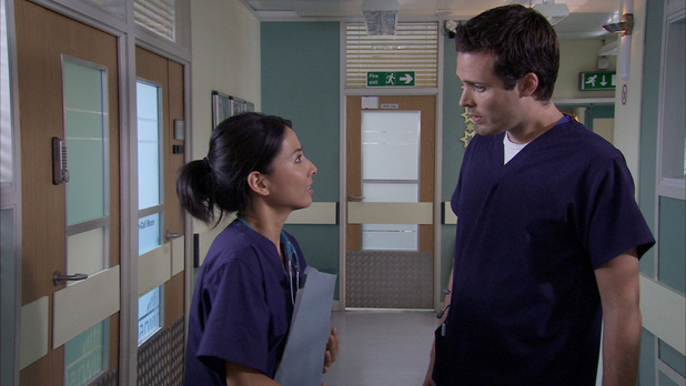 Tara and Ollie in Holby City