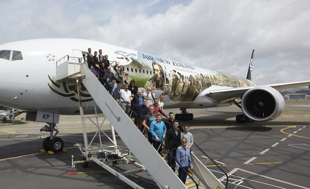The Hobbit cast Air New Zealand