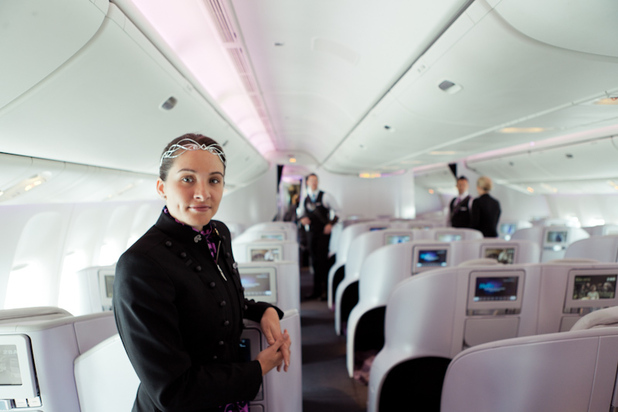 Air New Zealand cabin crew The Hobbit 777-300