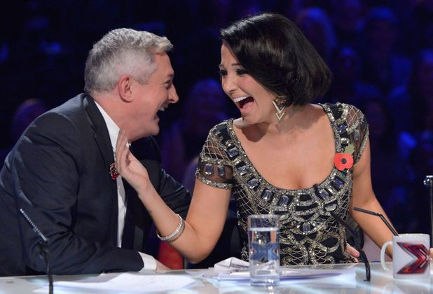 Louis Walsh and Tulisa Contostavlos X Factor 2012