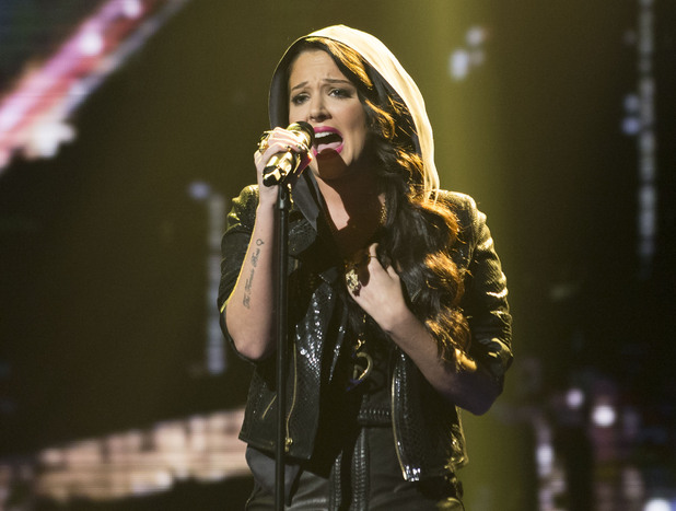 Tulisa performs on X Factor