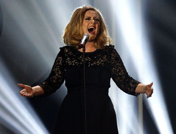 Adele performing on Friday October 5, 2012