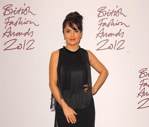 Salma Hayek, British Fashion Awards 2012
