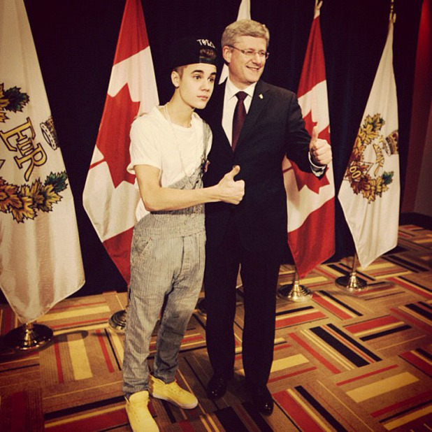 Bieber with Canadian President