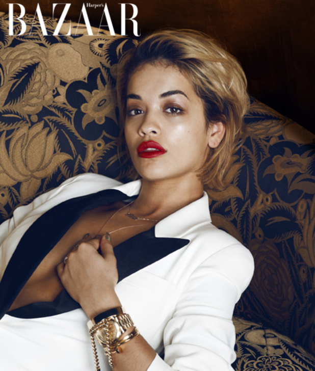 Rita Ora for Harper's Bazaar January issue