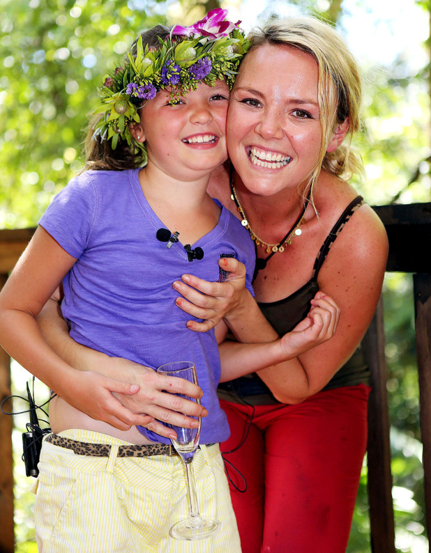 Winner Charlie Brooks with daughter Kiki