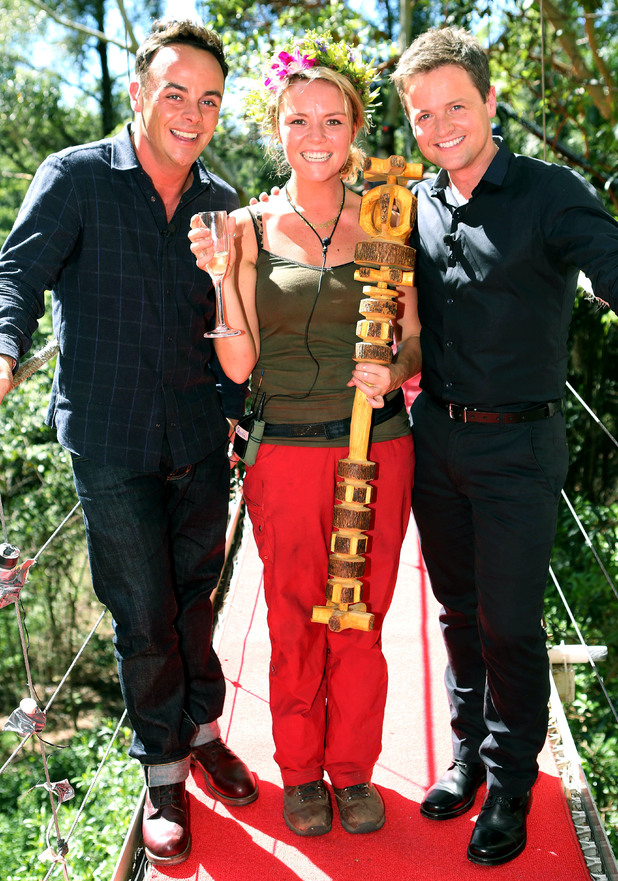 Winner Charlie Brooks with Ant and Dec.