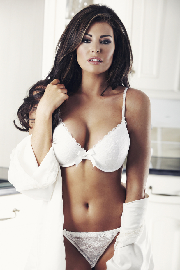 Jessica Wright models Alexis Smith lingerie