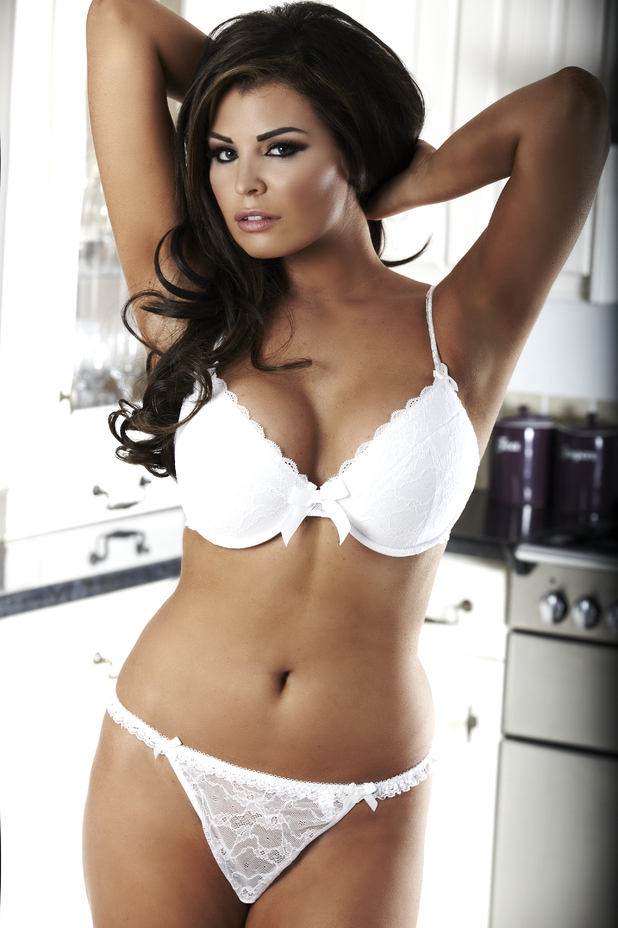TOWIE's Jessica Wright models Alexis Smith lingerie - pictures