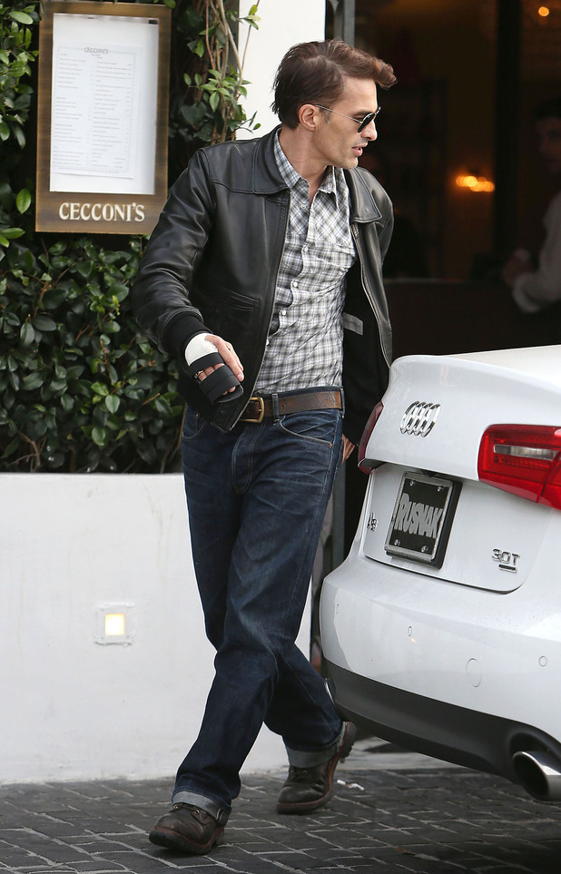 Olivier Martinez leaves Cecconi's Restaurant