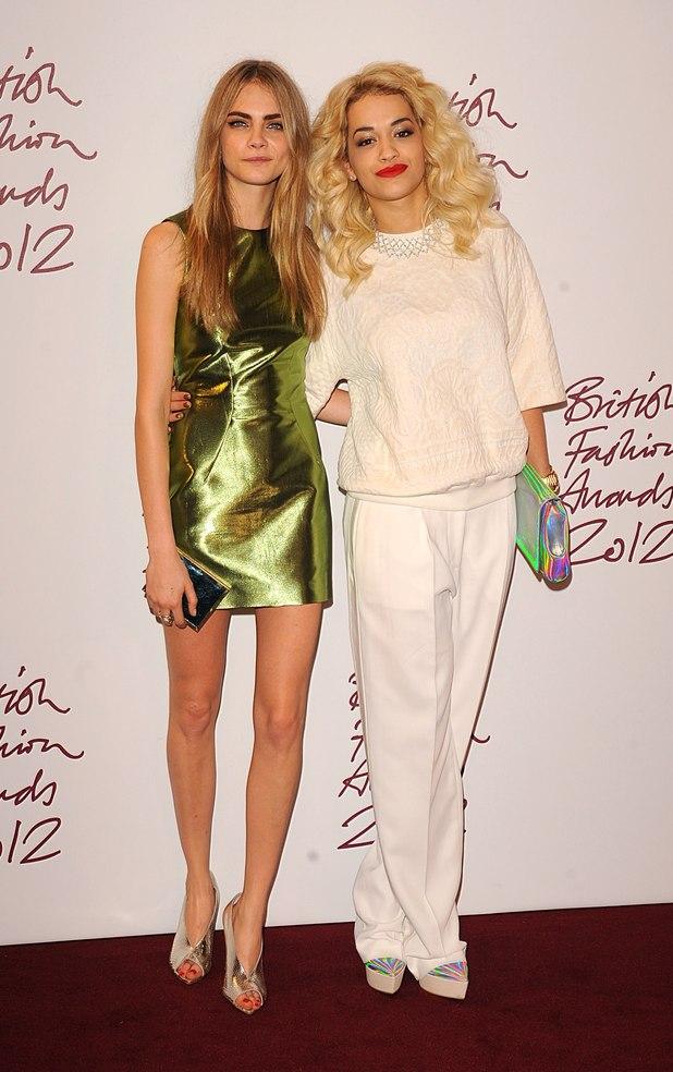 Cara Delevigne, Rita Ora, British Fashion Awards 2012