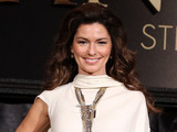 Shania Twain attends a press conference for 'Shania: Still The One' at Caesars Palace Resort.