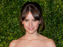Felicity Jones films scenes opposite Richard E Grant on the comedy-drama.