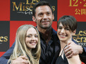 Anne Hathaway, Amanda Seyfried and Hugh Jackman promote Les Misérables.