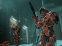 Achievements for Halo 4's 'Crimson Map Pack' include destroying a Mantis.