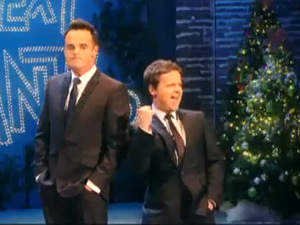 Ant and Dec in ITV's Christmas promo video