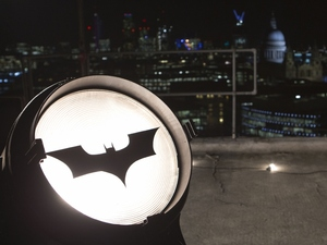 A special screening of 'The Dark Knight Rises' high above the East London streets to celebrate the launch of Virgin Movies